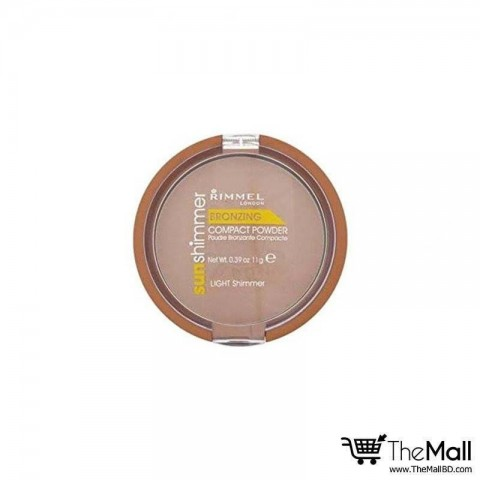 Rimmel London Sun Shimmer Bronzing Compact Powder - Light Shimmer