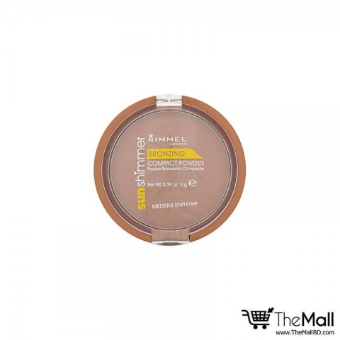 Rimmel London Sun Shimmer Bronzing Compact Powder – Medium Shimmer