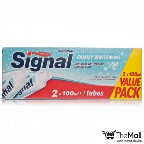 Signal Toothpaste  Whitening Twin PK 2x100ml