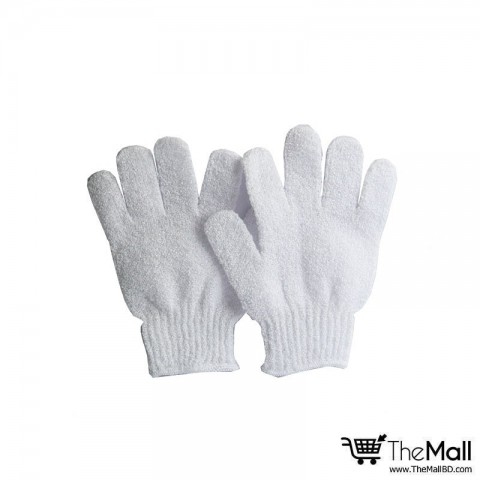 Athena Bath And Shower Exfoliating Gloves 2pc - White
