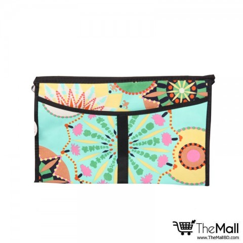 Royal Flower Design Cosmetics Bag - 001