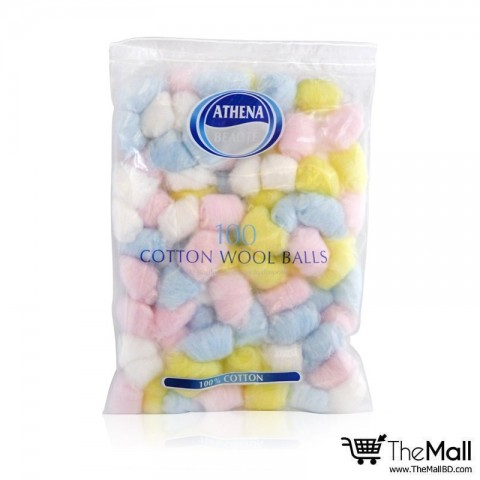 Athena 100 Cotton Wool Balls Colored