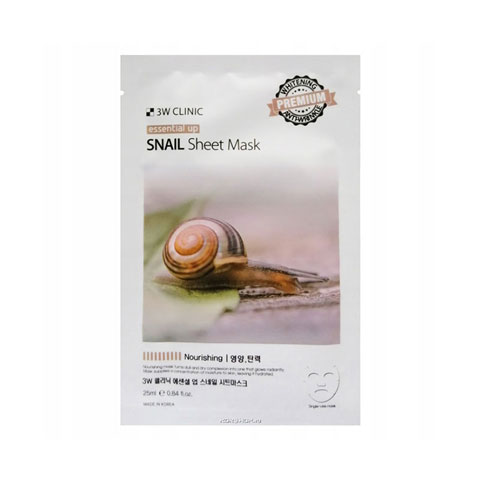 3W Clinic Essential Up Snail Sheet Mask 25ml