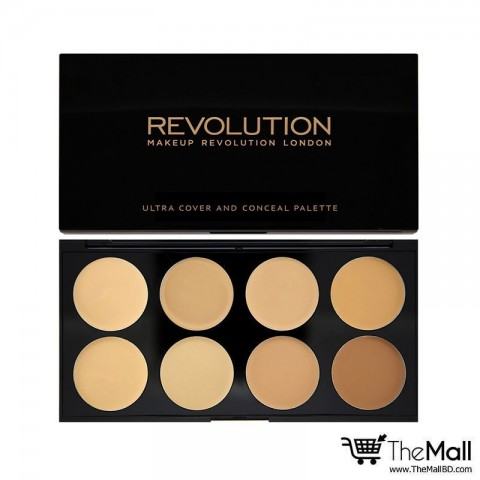 Makeup Revolution Ultra Cover and Conceal Palette- Light Medium