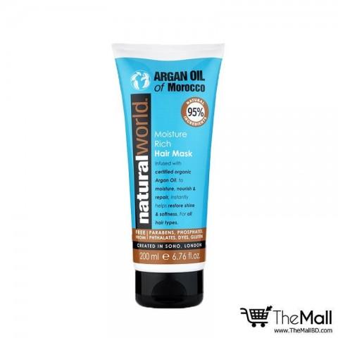 Natural World Argan Oil of Morocco Moisture Rich Hair Mask 200ml