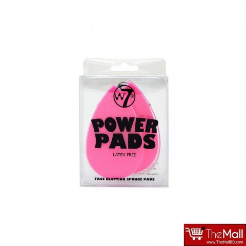 W7 Power Pads Face Blotting Sponge Pads 2pcs
