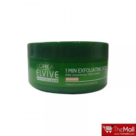 L'Oreal Paris Elvive Phytoclear 1 Minute Exfoliating Scrub 150ml