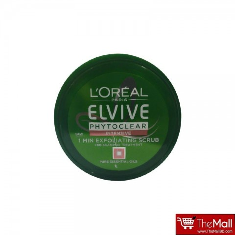 L'Oreal Paris Elvive Phytoclear 1 Minute Exfoliating Scrub 150ml