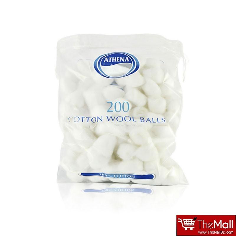 Athena Cotton Wool Balls White 200 Pack