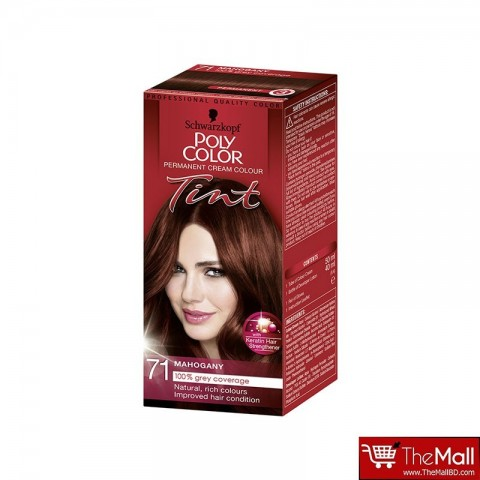 Schwarzkopf Poly Color Permanent Cream Colour Tint - 71 Mahogany