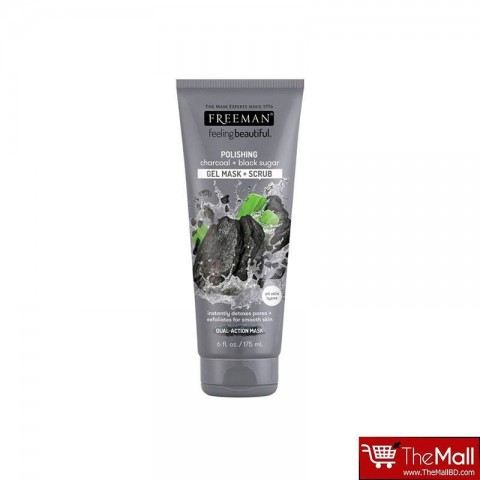 Freeman Polishing Charcoal + Black Sugar Gel Mask + Scrub 175ml