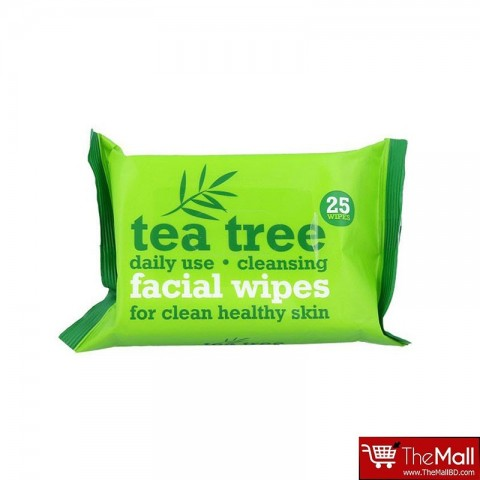 Xpel Tea Tree Daily Use Cleansing Facial Make Up Wipes - 25 wipes
