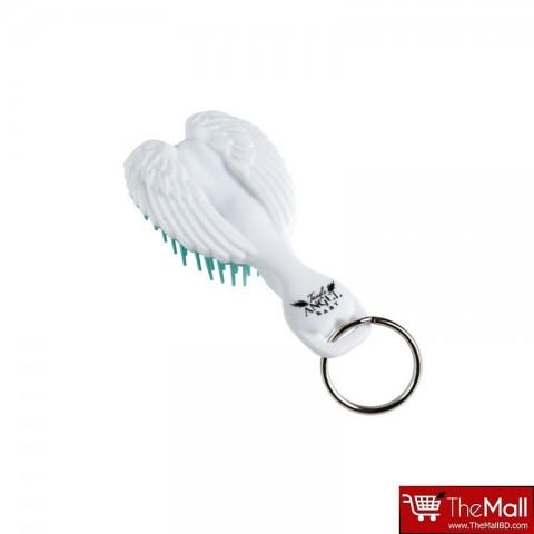 Tangle Angel Baby Keyring Hair Brush - White/Turquoise