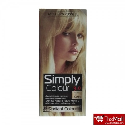 Mellor & Russell Simply Colour Permanent Hair Colour - 9.0 Natural Light Blonde