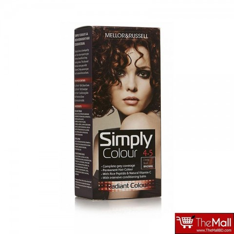 Mellor & Russell Simply Colour Permanent Hair Colour - 4.5 Deep Red Brown