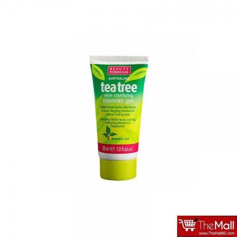 Beauty Formulas Tea Tree Skin Clarifying Blemish Gel 30ml