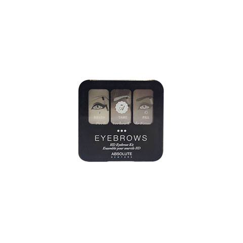 Absolute New York Eyebrows Kit -  Ebony AEBK06