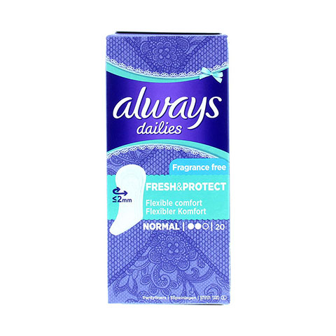Always Dailies Fresh & Protect Fragrance Free Pantyliners  20 Count