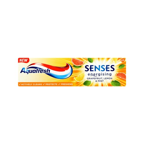 Aquafresh Senses Energising Grapefruit Lemon & Mint Toothpaste 75ml