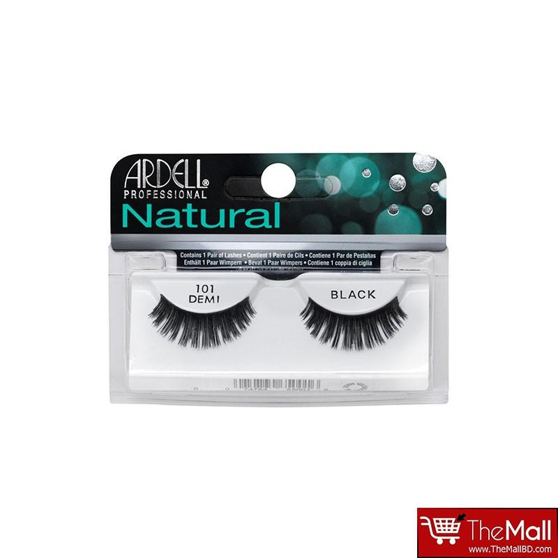 Ardell Natural False Eyelashes - 101 Demi Black