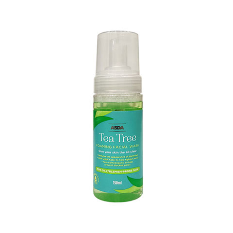 ASDA Tea Tree Foaming Facial Wash For Oily Blemish Pore Skin 150ml