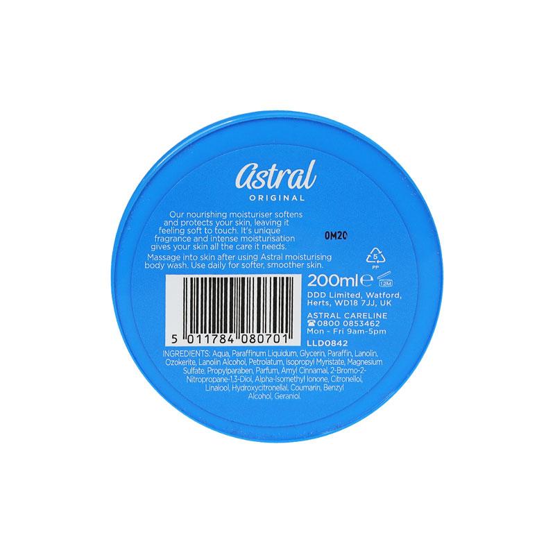 Astral Original Face & Body Moisturiser Cream 200ml