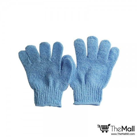 Athena Bath And Shower Exfoliating Gloves 2pc - Blue