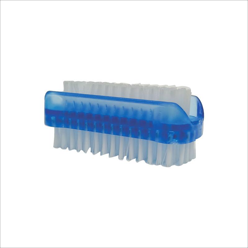 Athena Double Sided Plastic Nail Brush - Blue