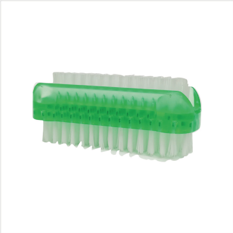 Athena Double Sided Plastic Nail Brush - Green