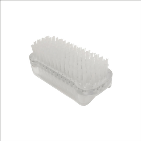 Athena Double Sided Plastic Nail Brush - White