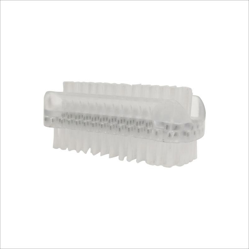 Athena Double Sided Plastic Nail Brush - White