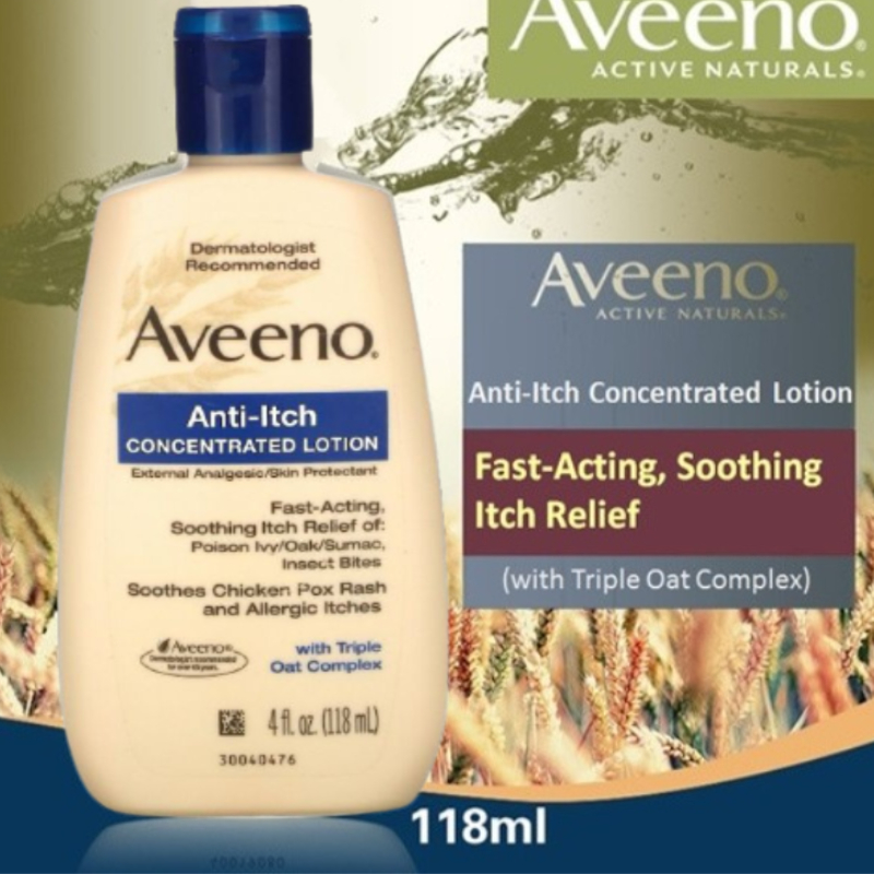 Aveeno Anti-Itch Concentrated Lotion With Triple Oat Complex 118ml