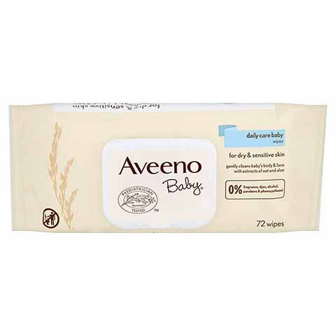 Aveeno Baby Care Baby Wipes-72 Wipes