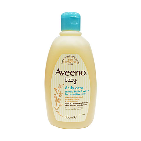 Aveeno Baby Daily Care Gentle Bath & Wash For Sensitive Skin 500ml