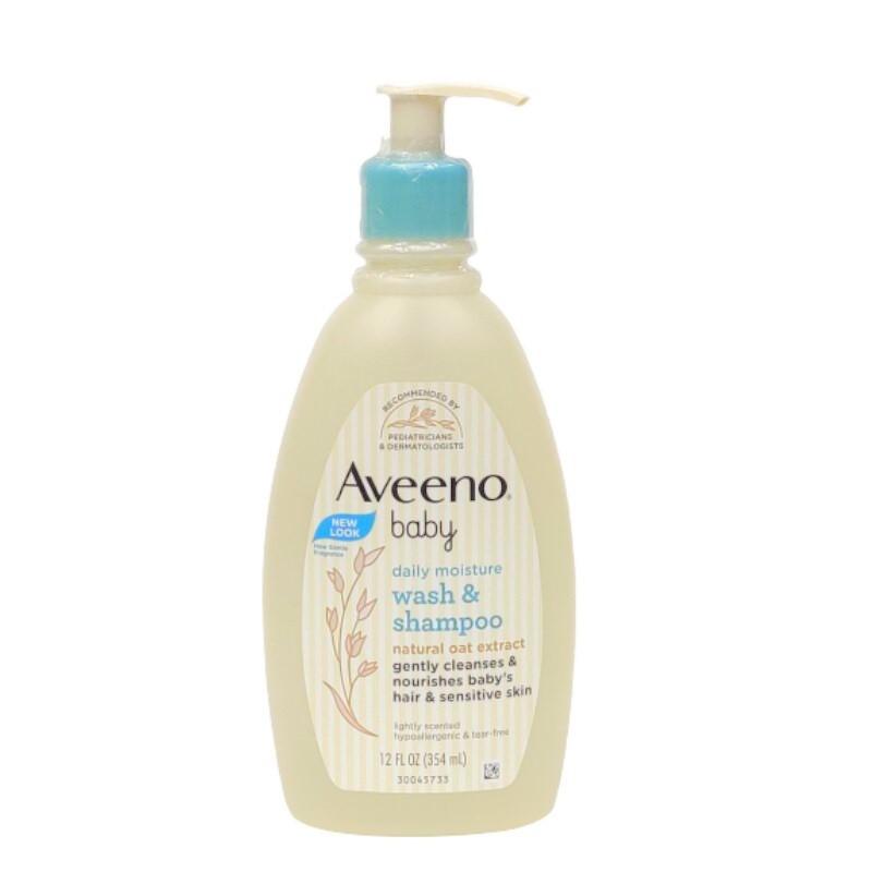 Aveeno Baby Daily Moisture Wash & Shampoo 354ml