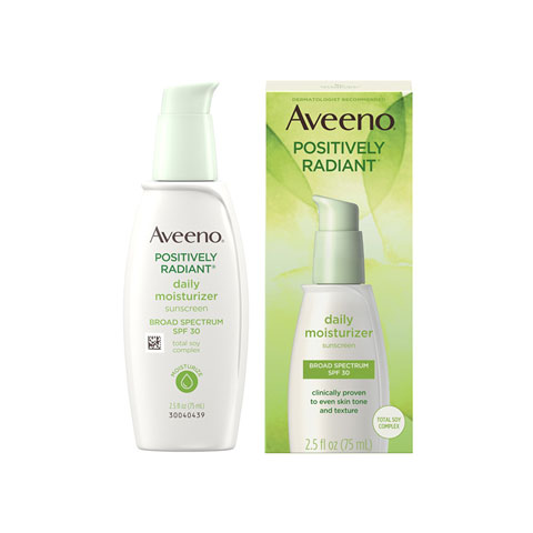 Aveeno Positively Radiant Daily Moisturizer Sunscreen 75ml - Spf 30