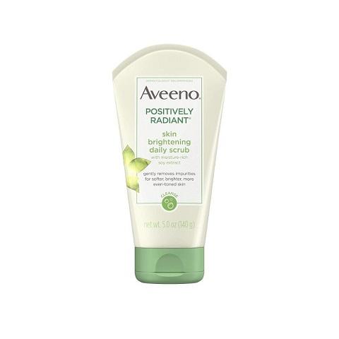 Aveeno Positively Radiant Skin Brightening Daily Face Scrub 140g