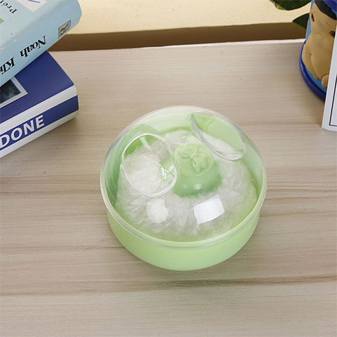 Baby Talcum Powder Box - Green