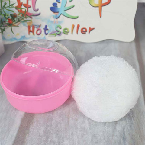 Baby Talcum Powder Box - Pink