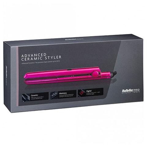 BaByliss Pro Advanced Ceramic Styler Hair Straightener - Pink