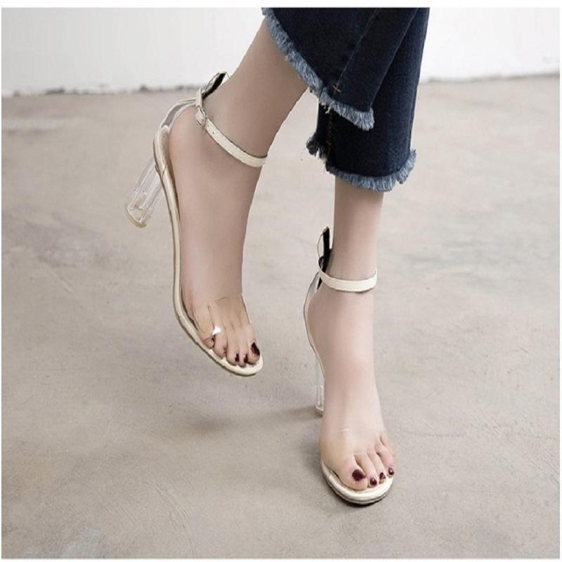 Women's Open Toe Transparent High Heels