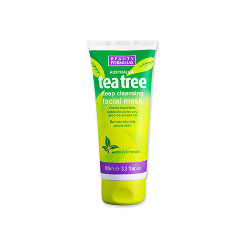 Beauty Formulas Australian Tea tree Deep Cleansing Facial Mask 100ml