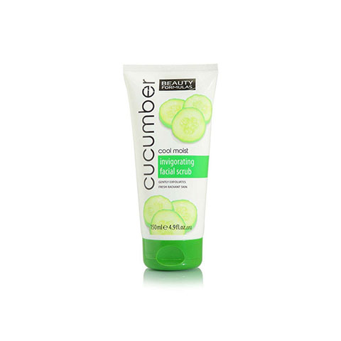 Beauty Formulas Cucumber Cool Moist Invigorating Facial Scrub 150ml