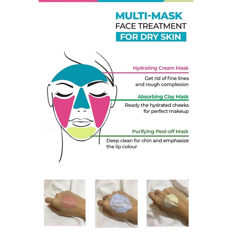 Beauty Formulas Multi-Mask Face Treatment Dry Skin 15g