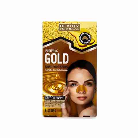Beauty Formulas Purifying Gold Nose Pore Deep Cleansing Strips 6 Pack