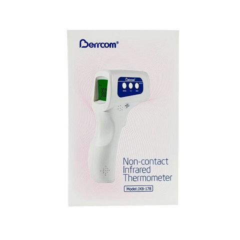 Berrcom Non-Contact Infrared Forehead Thermometer - (Model: JXB-178)