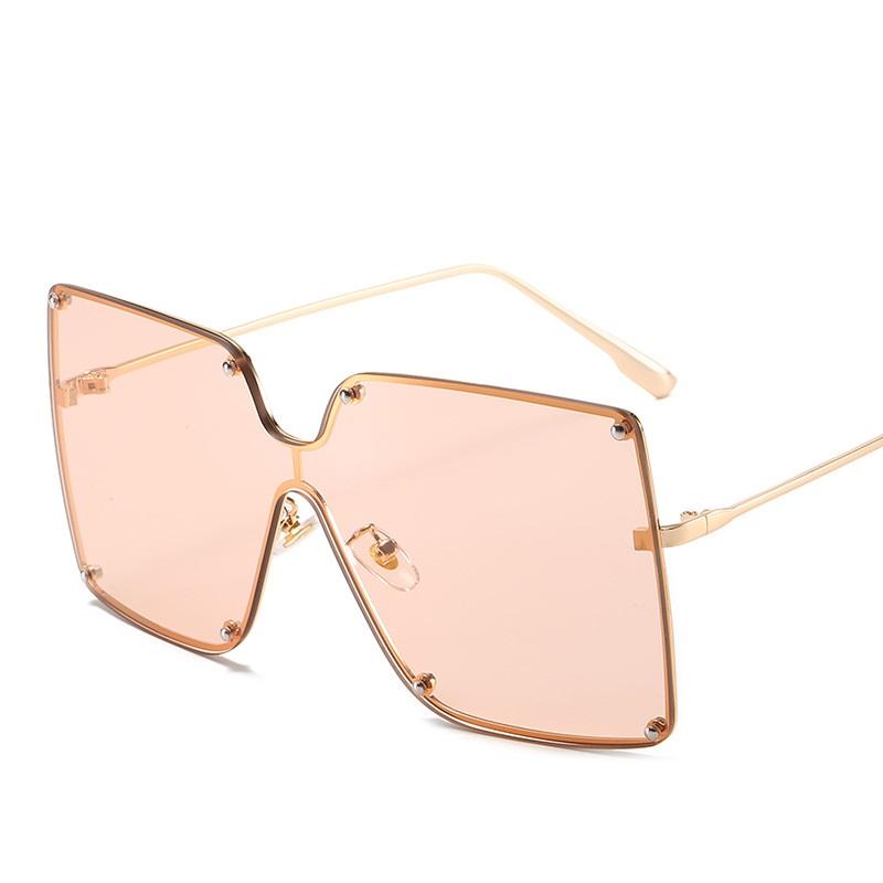 Big Frame Square Ocean Lens Sunglasses