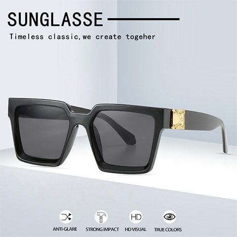 Big Frame Square Wide Sunglasses