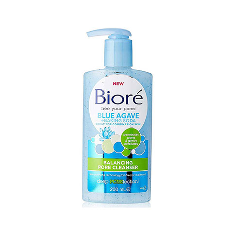 Biore Blue Agave + Baking Soda Balancing Pore Cleanser 200ml