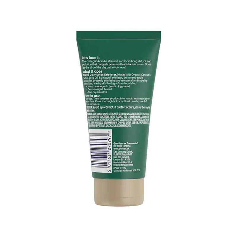Biore Daily Detox Exfoliator Face Scrub 125ml